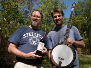 Geoff & Son Jimmy After Delivering a Custom Banjo in France