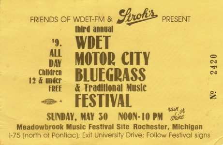 Motor City Bluegrass Ticket