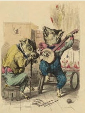 Hog on the Banjo - NYPL (Used with Permission)
