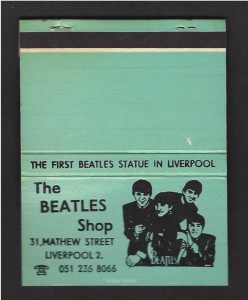 A Beatles Matchcover from Liverpool