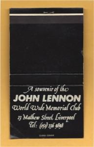 John Lennon Memorial Matchcover