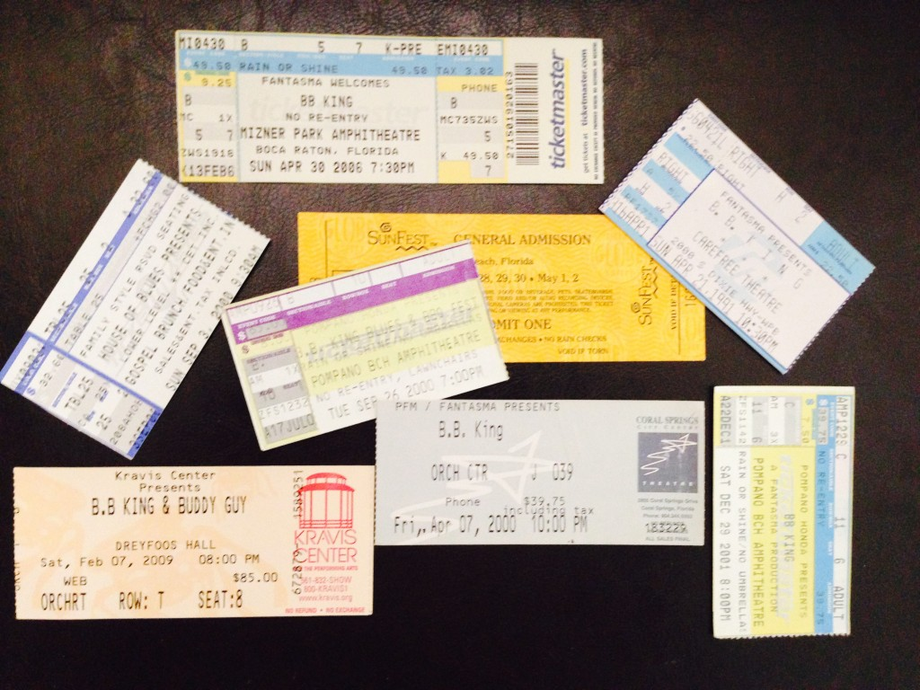 BB King Concerts I Attended