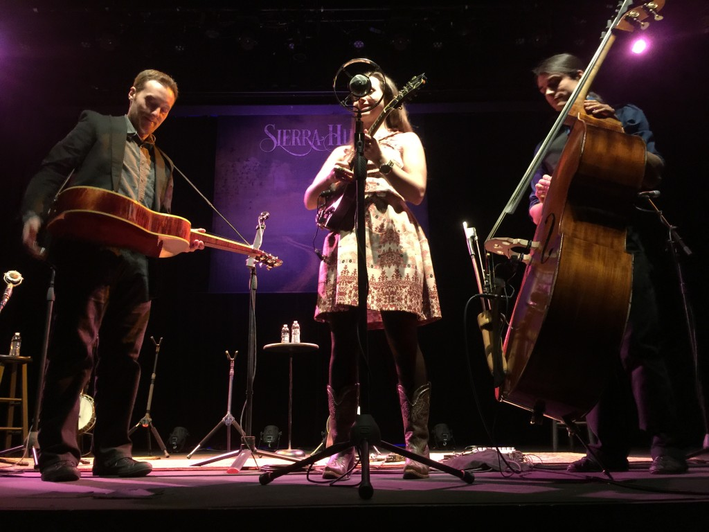 Sierra Hull's Trio at the Lyric Theatre.