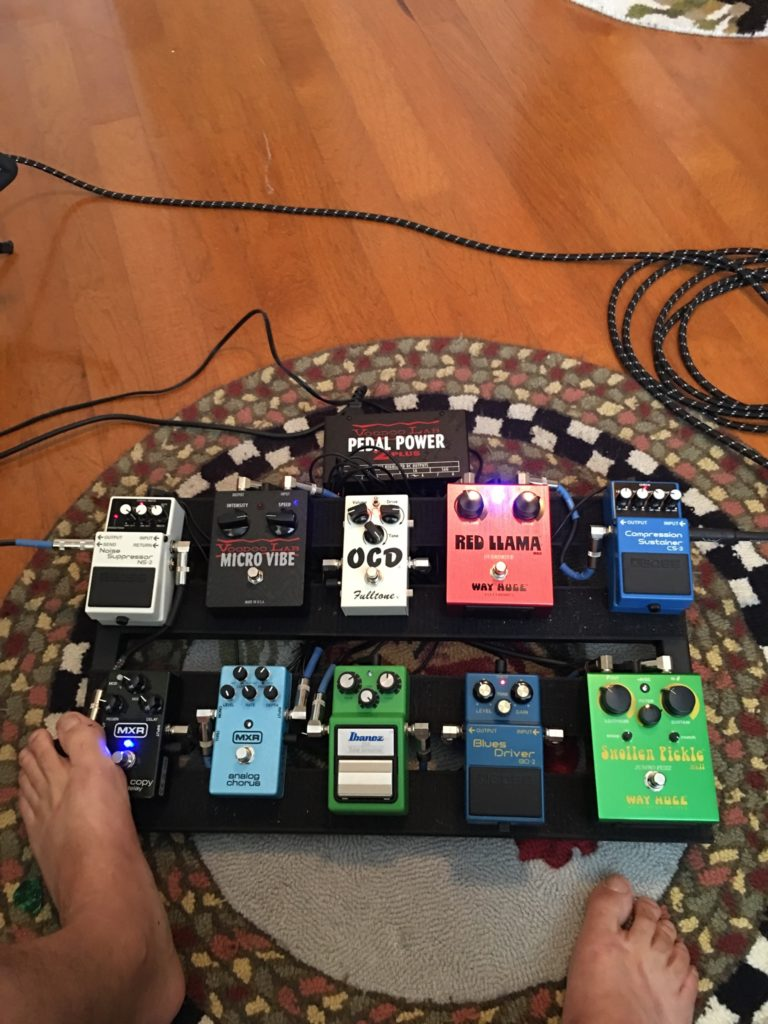Andrew's Pedal Board